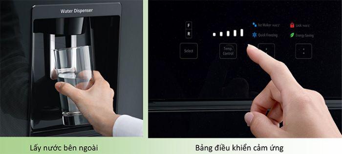 Chức năng TouchControl của tủ lạnh side by side BOSCH KAD92SB30