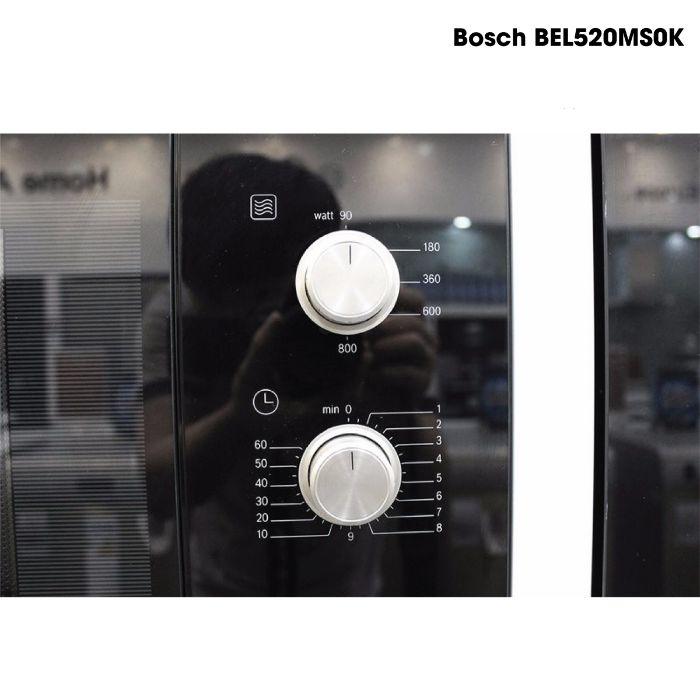 núm xoay cơ bền bỉ của lò vi sóng Bosch BEL520MS0K