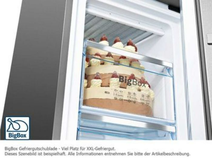 Hộp chưa lớn Bigbox của tủ lạnh side by side BOSCH KAD92SB30