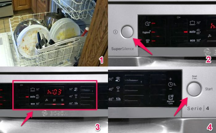 Cách cài đặt chương trình rửa Bosch SMS46MI07E