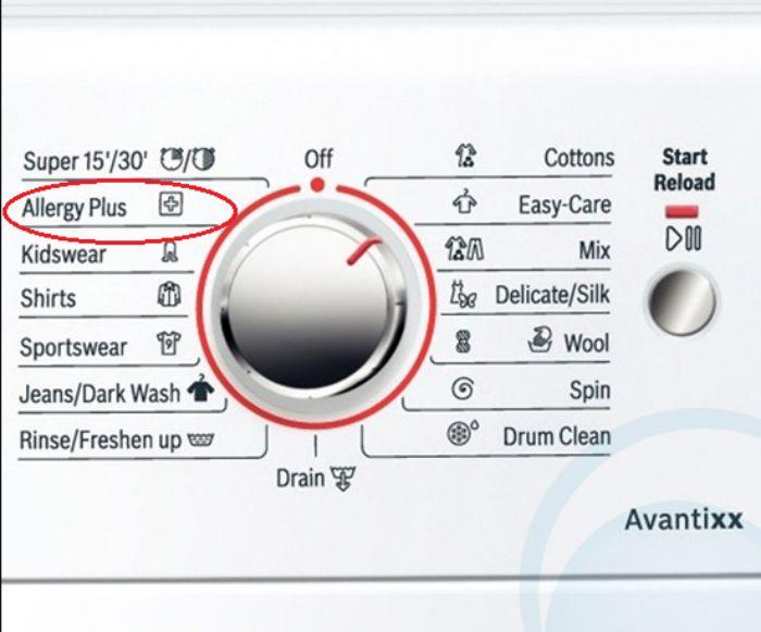 Chức năng Allergy Plus của máy giặt Bosch WAW28480SG