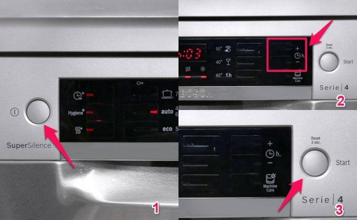 Chức năng hẹn giờ máy rửa bát Bosch SMS46MI07E