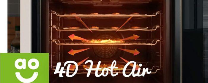 Chức năng nướng 4D Hot Air của lò nướng Bosch HBG634BB1