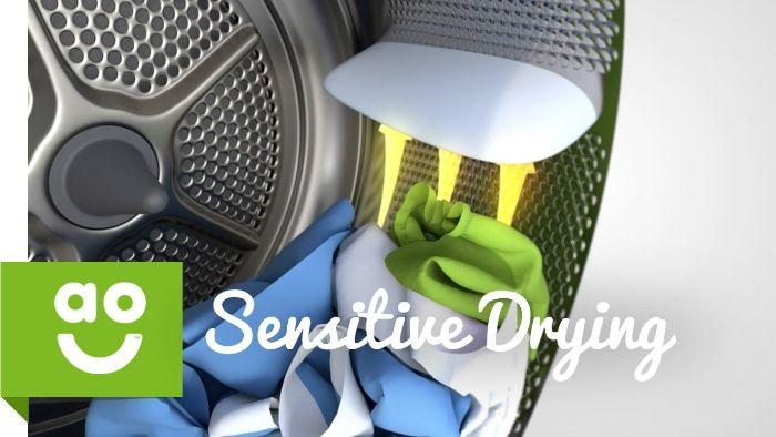 Công nghệ SensitiveDrying sytem của máy sấy Bosch WTW87561G
