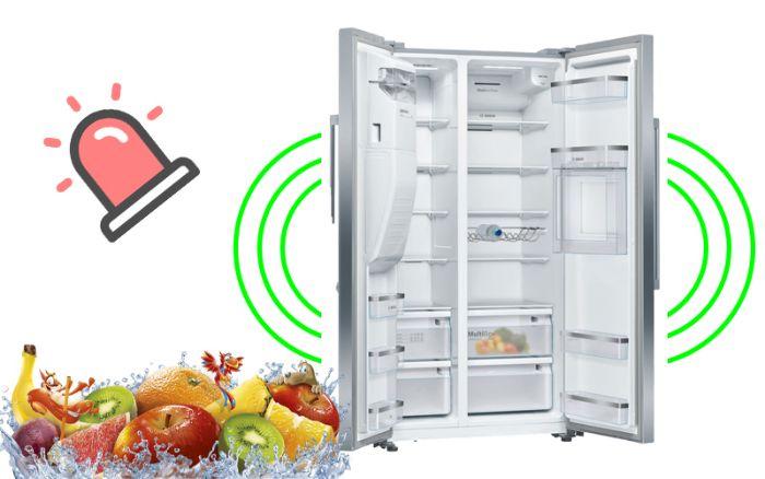Chuông báo cửa thông minh của tủ lạnh Side By Side Bosch KAG93AIEPG