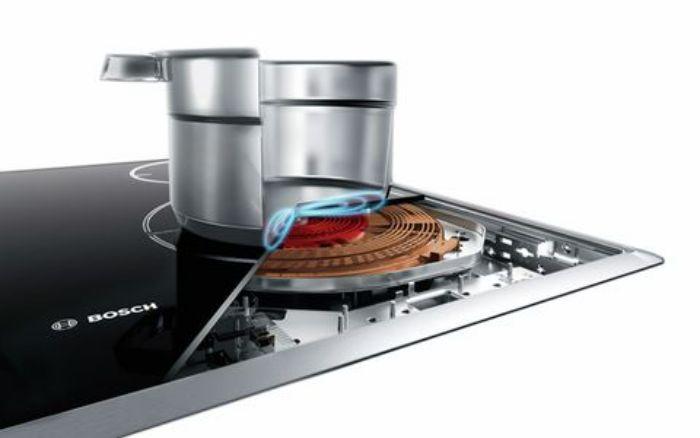 Công nghệ cảm ứng vùng nấu của bếp từ Bosch PXY875DC1E