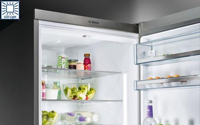 Tủ lạnh Side By Side Bosch KAG93AIEPG trang bị hệ thống đèn LED