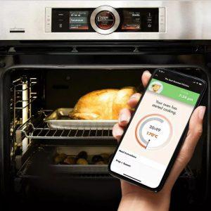 Công nghệ nấu ăn tự động của lò nướng bosch HBG675BB1