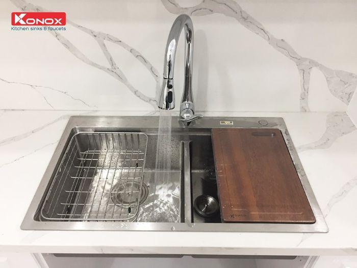 Công nghệ tạo bọt của vòi rửa Konox KN1902