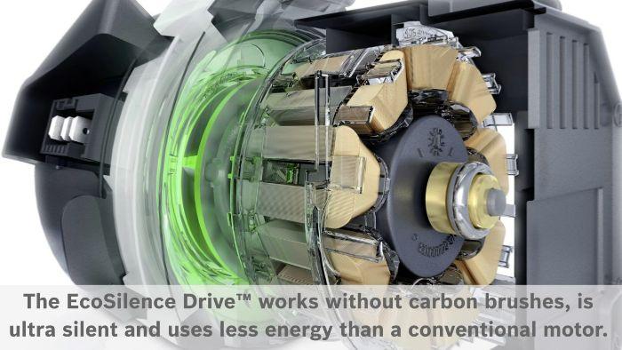 Động cơ EcoSilence Drive hoạt động siêu bền bỉ của máy rửa bát Bosch SMS6ZCI42E