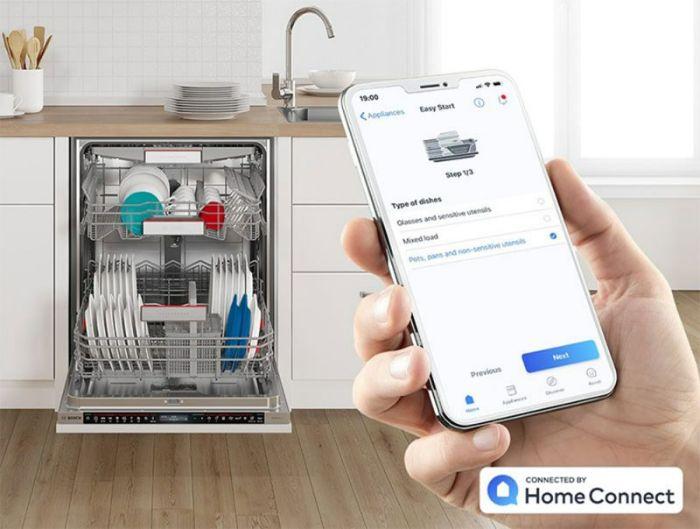 Tính năng Home Connect thông minh của máy rửa bát Bosch SMS6ZCW42E