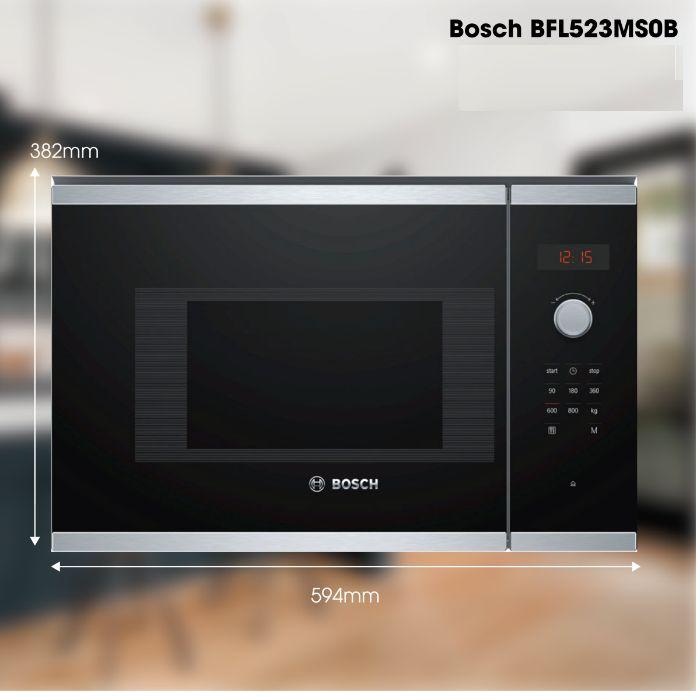 Lò vi sóng Bosch BFL523MS0B thiết kế tinh tế, thời thượng