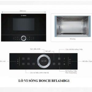 Lò vi sóng Bosch BFL634GB1 nhập khẩu Châu Âu