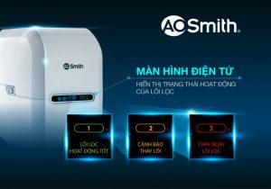 Màn hình điện tử thông báo của máy lọc nước AO Smith G1