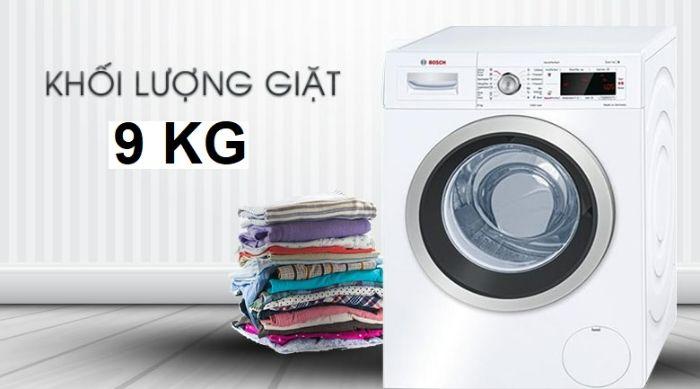 Máy giặt Bosch WAW28480SH dung tích lên đến 9kg