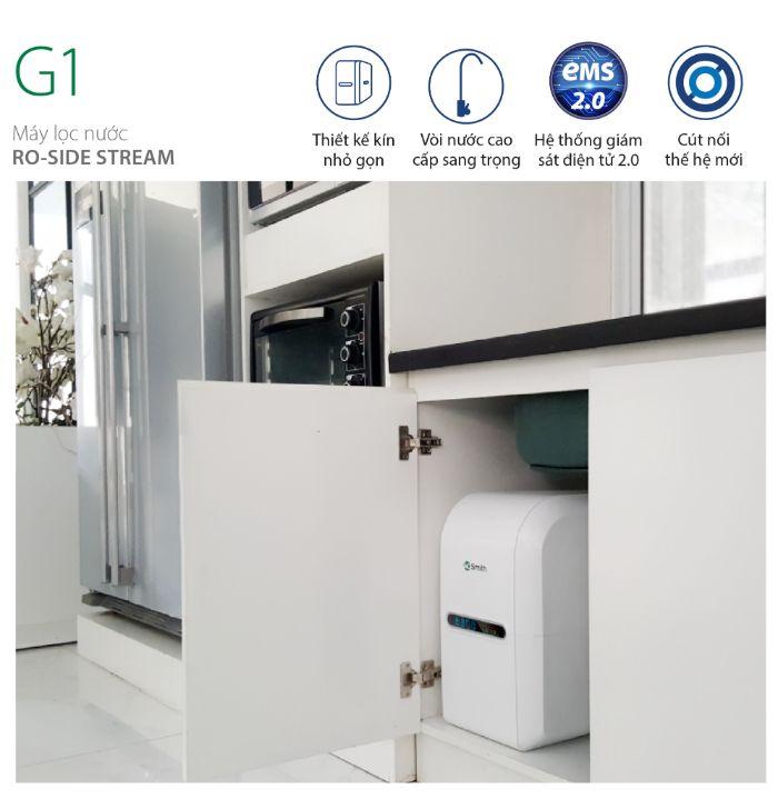Máy lọc nước AO Smith G1 giúp cho không gian bếp thêm nổi bật