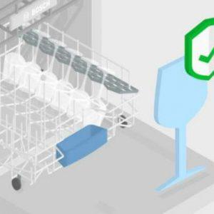 Rửa đồ thủy tinh Rửa thủy tinh an toàn với máy rửa bát Bosch SMS6ZCI49E
