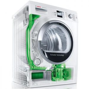 Chương trình sấy nhanh 40 phút tiện lợi với Máy sấy Bosch WTB86201SG