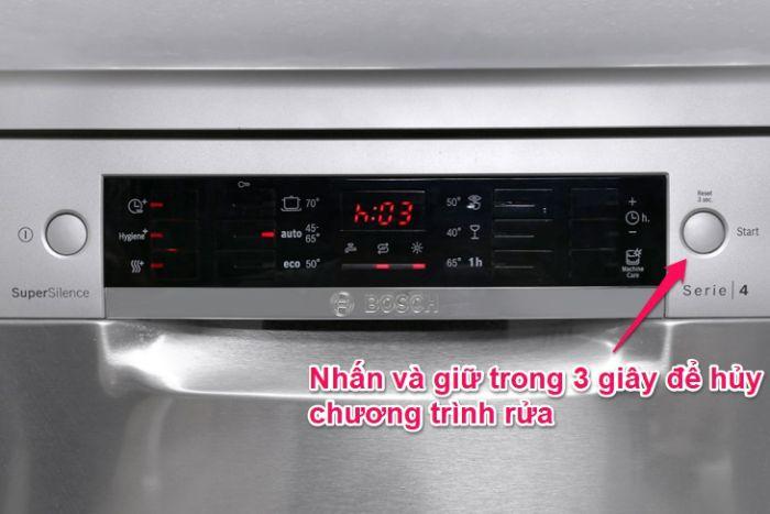 Cách thay đổi chương trình rửa Bosch SMS46MI07E