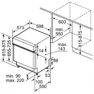 Thông số lắp đặt máy rửa bát Bosch SMS88TI40M