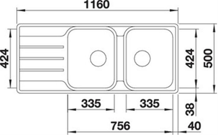 Thông số kỹ thuật của chậu rửa bát Blanco LEMIS 8S IF