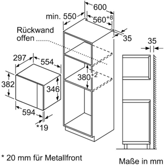 thông số kỹ thuật của lò vi sóng Bosch BEL520MS0K