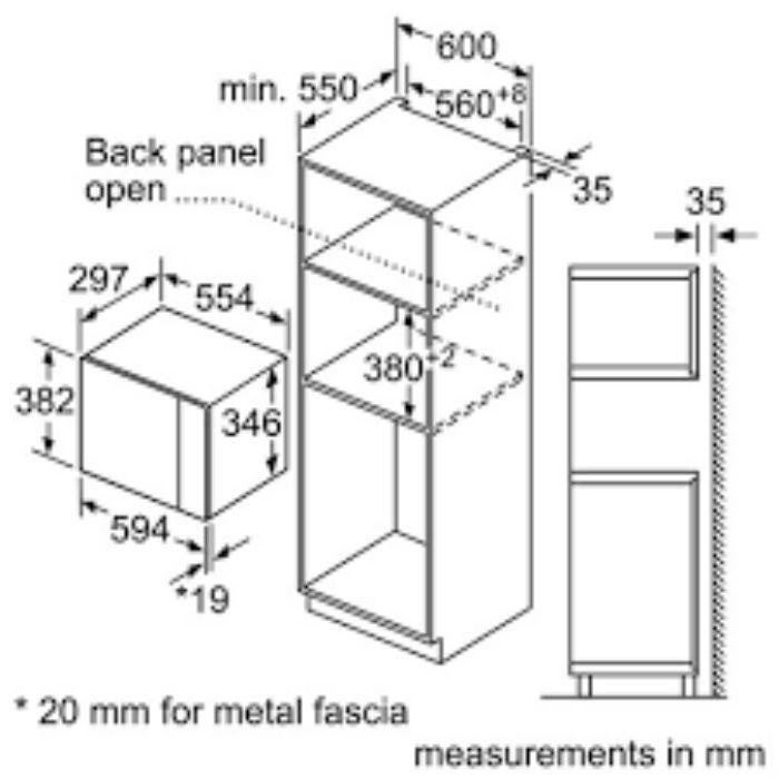 Thông số kỹ thuật của lò vi sóng Bosch BFL523MS0B