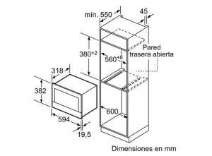 Thông số kỹ thuật lò vi sóng Bosch BFL634GB1