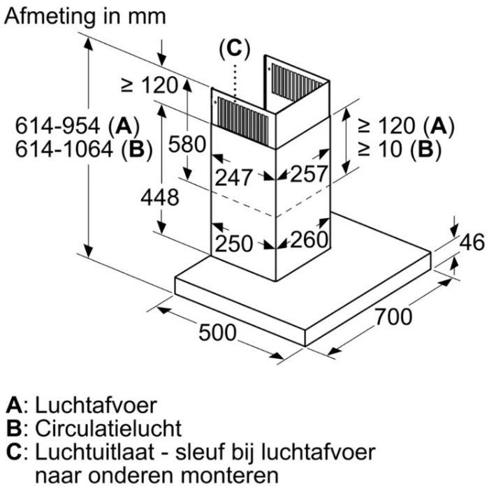 Thông số lắp đặt máy hút mùi DWB77CM50