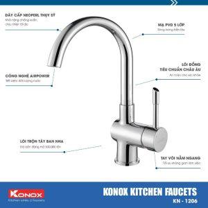 Vòi rửa bát KN1206 bền bỉ với thời gian