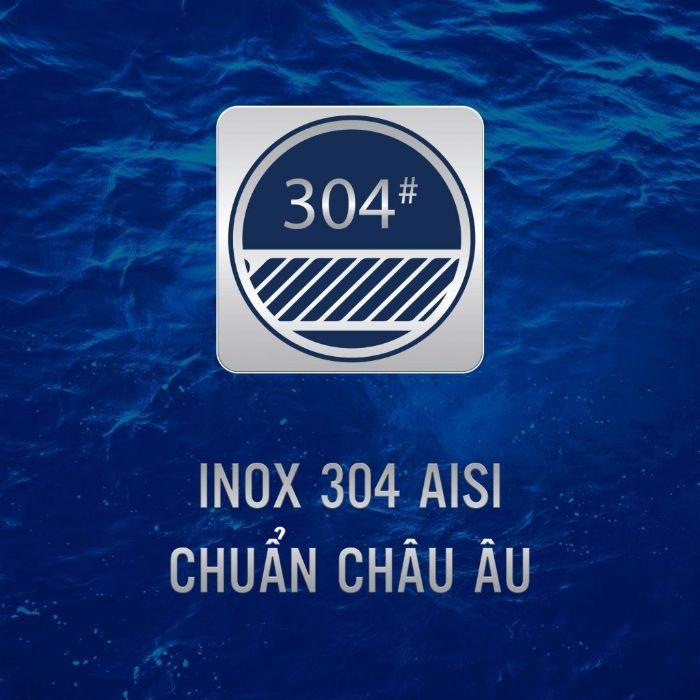 Không chỉ về thiết kế nổi bật, Chậu rửa bát konox KS11650 2B còn an toàn cho sức khỏe người dùng với chất liệu inox 304 AISI