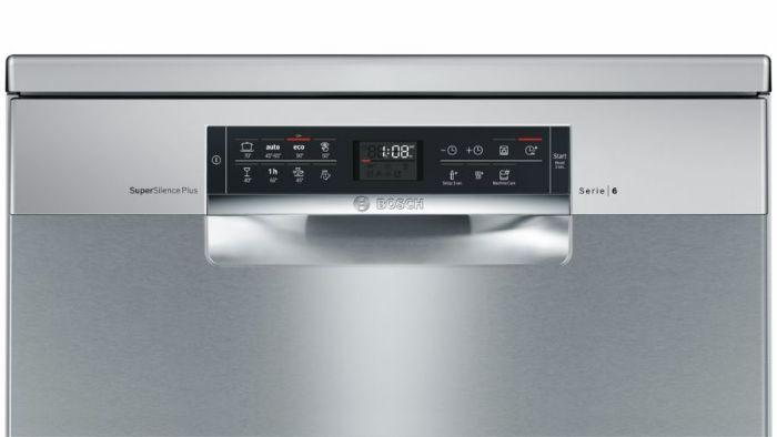 Bảng điều khiển của máy rửa bát bán âm Bosch SMI68TS06E