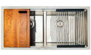 Chậu rửa bát konox KN8745DUB thiết kế sang trọng, rộng rãi
