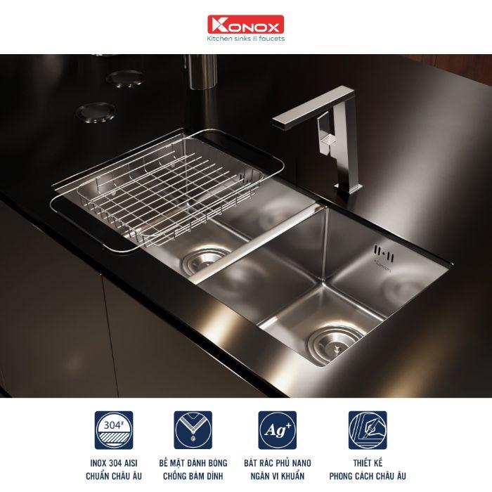 Công nghệ cải tiến với chậu rửa bát KonoxKN7544DUB