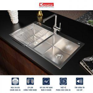 Công nghệ sản xuất của chậu rửa bát konox KN8248DOB handmade, tinh xảo