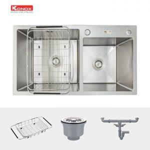 Sản phẩm chậu rửa bát konox KN8245DO sử dụng công nghệ cao, tuổi thọ độ bền cao