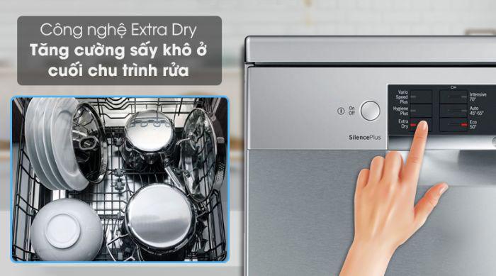 Tính năng Extra Dry trên máy rửa bát Bosch SMS46MI01G