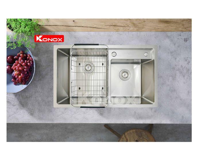 Với chậu rửa bát Konox sản phẩm được thiết kế sâu lòng, phù hợp với nhiều nhu cầu sử dụng