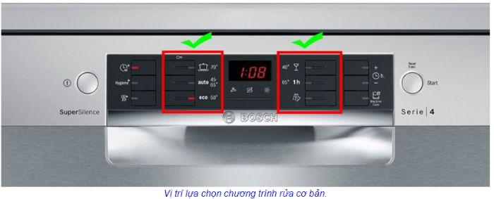 Delay Timer trên máy rửa bát Bosch SMS46KS01RE serie 4