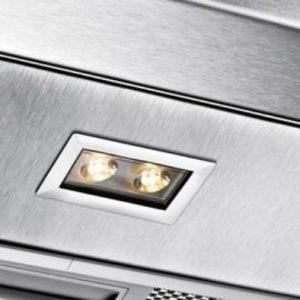 Đèn chiếu sáng LED của máy hút mùi Bosch DWB77IM50 với độ sáng vừa đủ hỗ trợ người dùng