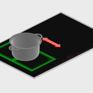 Vùng cảm ứng Flex được trang bị trong bếp từ Bosch