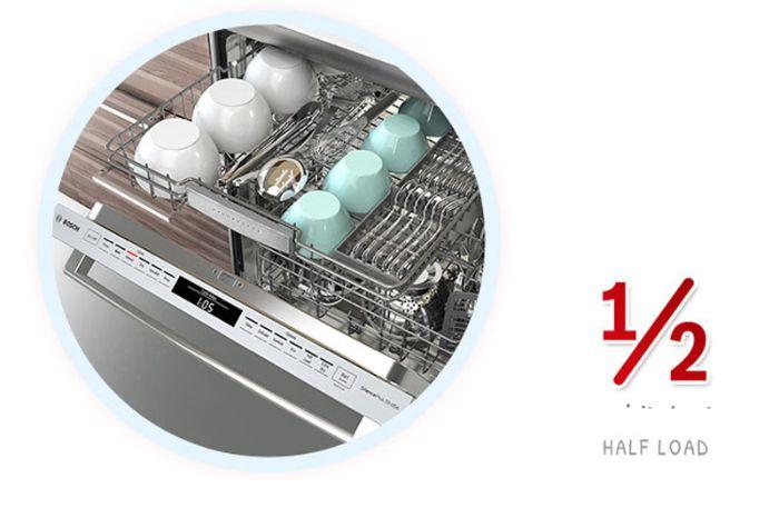Tính năng Half Load máy rửa bát Bosch SMS46GW01P mang lại hiệu quả cao