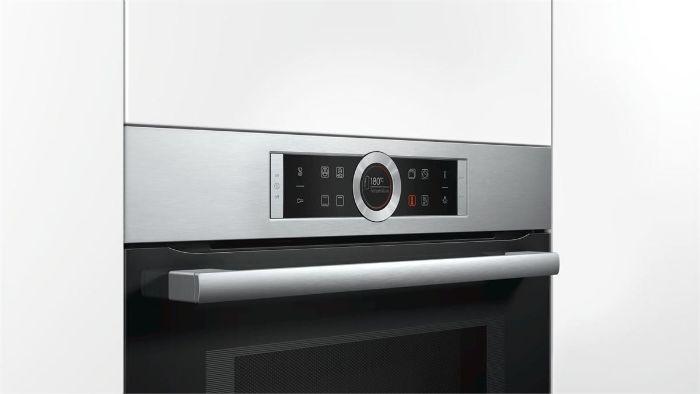 Lò nướng kết hợp vi sóng Bosch CMG633BB1 hiển thị sắc nét, thao tác dễ dàng