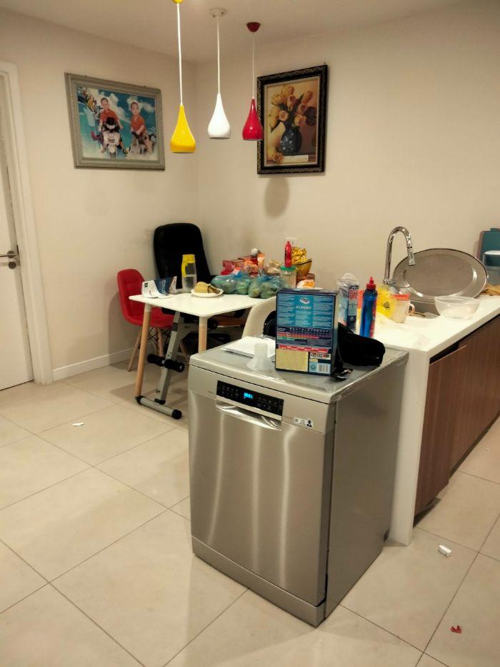 Hình ảnh lắp đặt thực tế của máy rửa bát Bosch SMS68MI04E