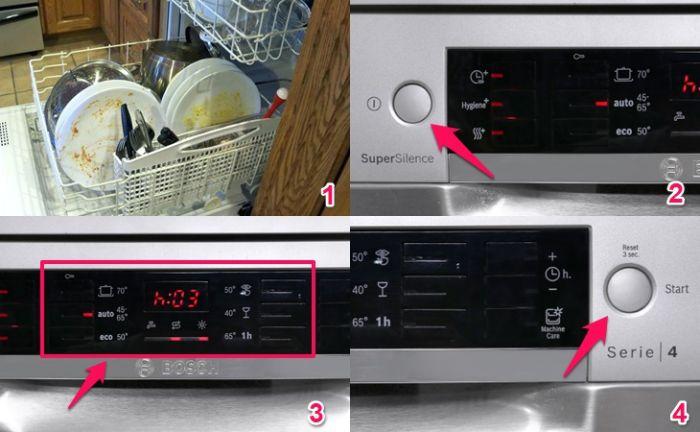 Hướng dẫn sử dụng các tính năng cho máy rửa bát Bosch SMI68NS07E ( Hình minh họa )