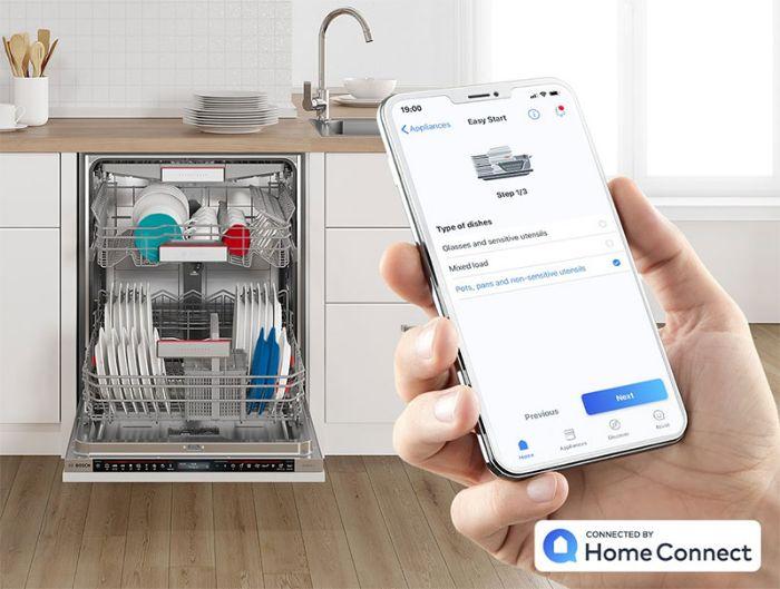 Máy rửa bát Bosch SMS88TI03E tích hợp home connect điều khiển từ xa