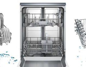khay rửa bát của máy rửa bát Bosch SMS46MI01G