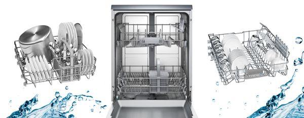 khay rửa bát của máy rửa bát Bosch SMS68MI04E