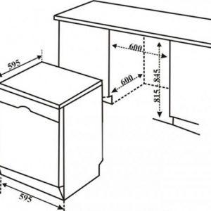 Kích thước của máy rửa bát Bosch SMS68MI04E