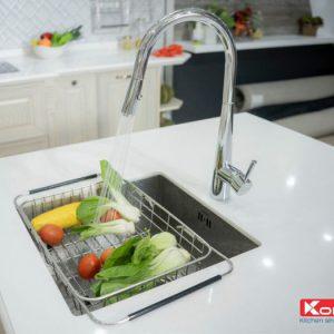 Với chậu rửa bát konox KN5444SU hố đơn sẽ đem lại vẻ đẹp lạ mắt cho căn bếp nhà bạn